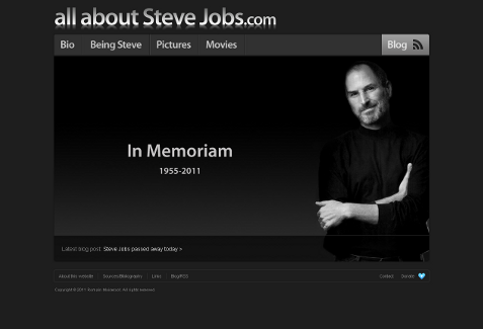 Bild: Screenshot http://allaboutstevejobs.com/